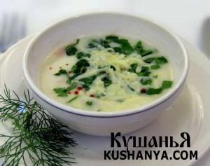 Молочный сырный суп фото