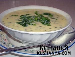Молочный суп по-французски фото