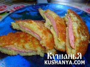 Картофельные зразы с колбасой фото