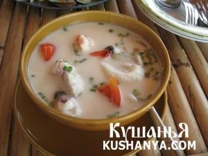 Молочный суп с морепродуктами фото