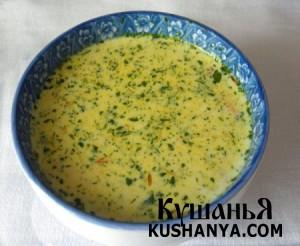 Сырный суп с курицей фото