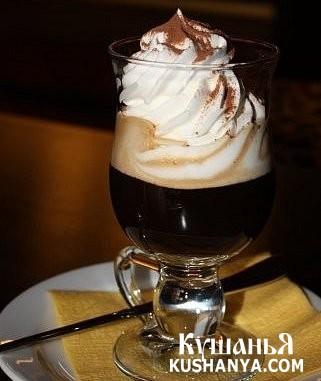 Фото Кофе с горьким шоколадом и ванильным пломбиром