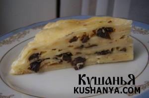 Лазанья с грибами и сыром фото