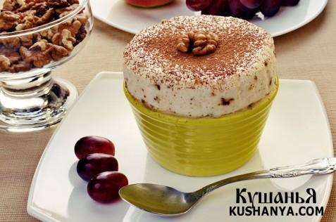 Фото Парфэ с грецкими орехами и медом