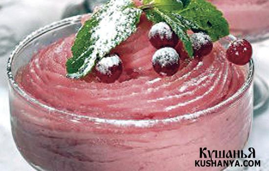 Фото Десерт из манной крупы и ягод