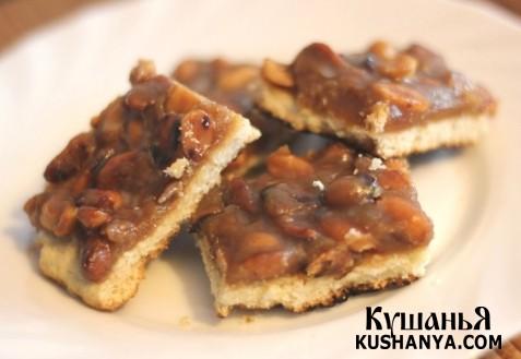 Фото Печенье с арахисом и карамелью