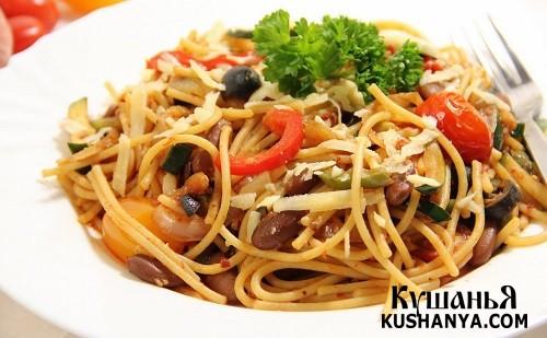 Фото Вегетарианские спагетти