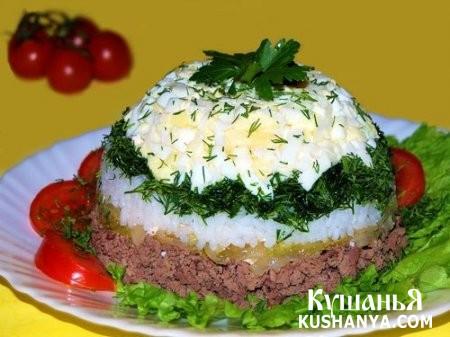 Фото Печеночный салат