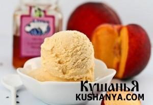 Персиковое мороженое фото