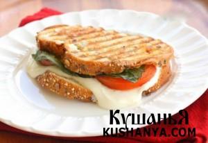 Сэндвич «Капрезе» фото