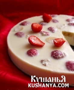 Фото Творожный десерт с фруктами