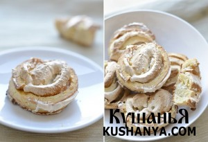 Творожное печенье с безе фото