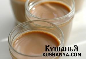 Молочно-чайный пудинг фото