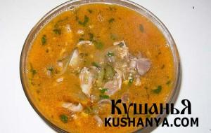 Суп с куриными сердечками фото