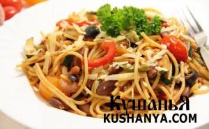 Вегетарианские спагетти фото