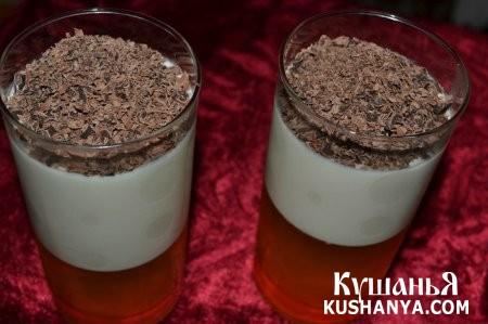 Фото Молочно-фруктовое желе с шоколадом