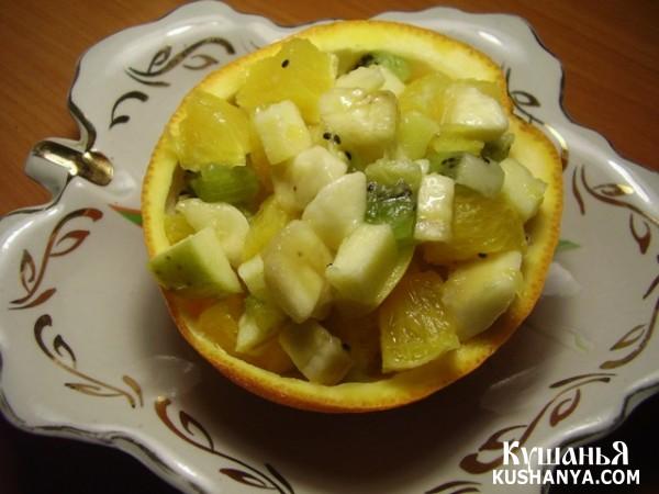Фото Салат фруктовый без сахара