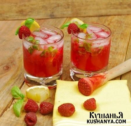 Фото Коктейль с лимончелло и малиной