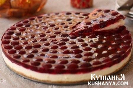 Фото Вишневый торт без выпечки