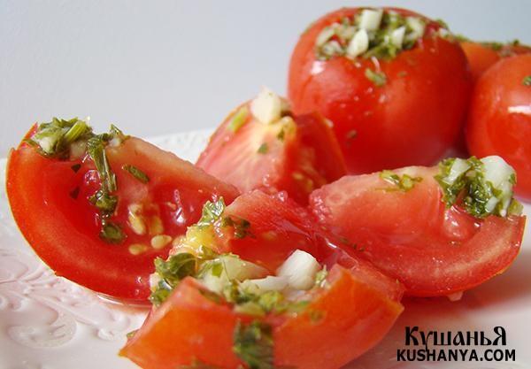 Фото Быстрые помидоры (сухой посол)
