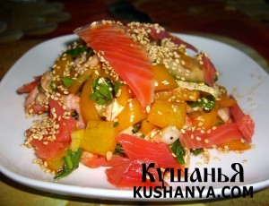 Салат с семгой «Камчатский» фото