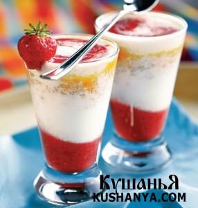 Полосатый йогурт фото