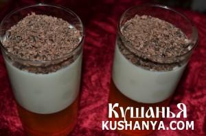 Молочно-фруктовое желе с шоколадом фото