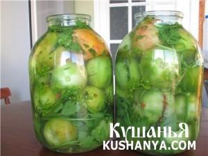 Фото Зеленые помидоры по-грузински