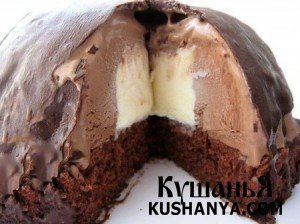 Холодный десерт «Шоколадная бомба» фото