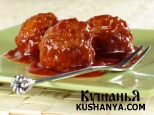 Фото Рыбные фрикадельки с томатным соусом