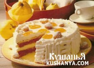 Торт с курагой фото
