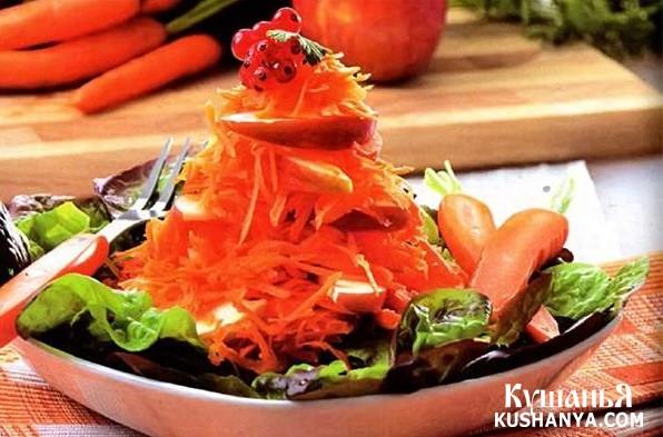 Фото Салат из моркови с орехами
