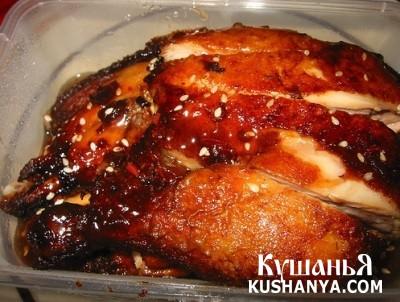 Фото Курица в сливовом соусе