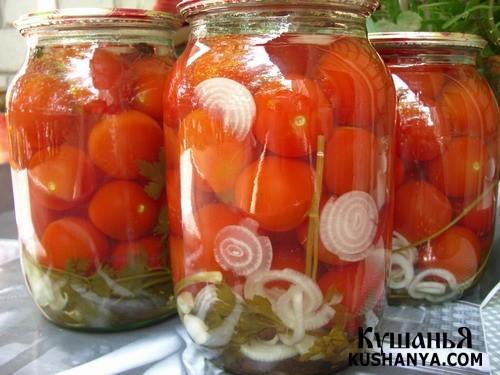 Фото Маринованые помидоры классические