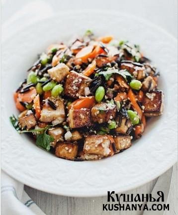 Фото Коричневый рис с адзуки и мисо