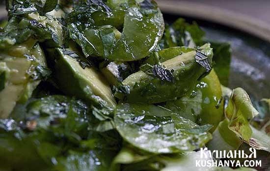 Фото Салат из зеленых помидоров