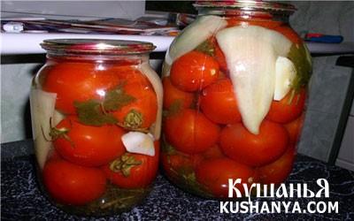 Фото Консервированные помидоры