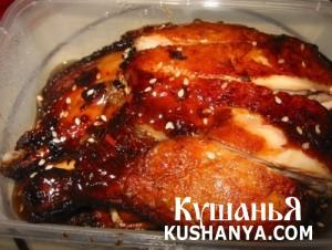 Курица в сливовом соусе фото