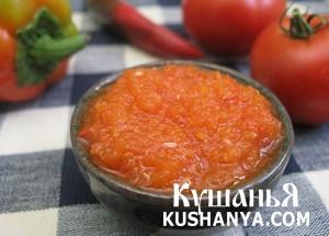 Острый томатный соус фото