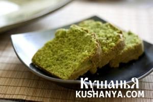 Пирог с зелёным чаем фото