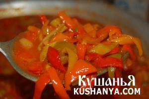 Cладкий перец в томатной заливке фото