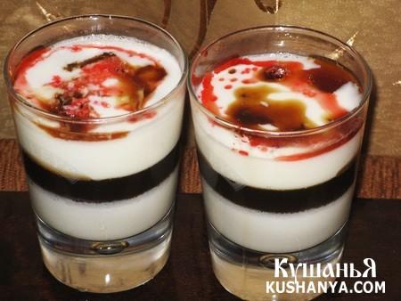Фото Желе молочное с миндалем