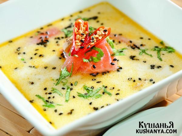 Фото Сливочный суп с сёмгой