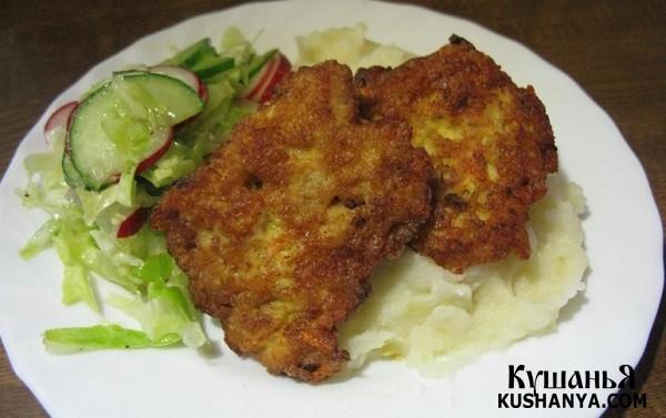 Фото Котлеты рубленые куриные с сыром