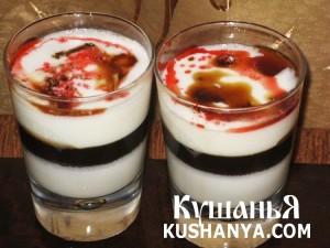 Желе молочное с миндалем фото
