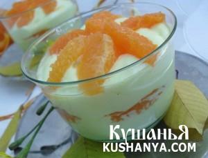 Десерт «Мандариновый шелк» фото