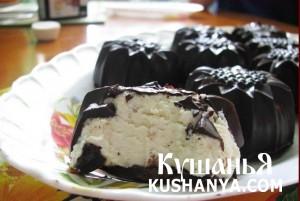 Фото Домашний глазированный сырок в шоколаде