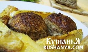 Бифтекья (котлеты) с картофелем в духовке фото
