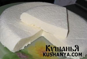 Домашний сыр-брынза фото