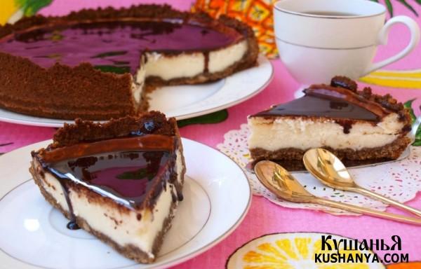 Фото Сырный чизкейк с шоколадом